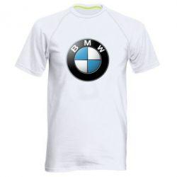 Мужская спортивная футболка BMW Small Logo - FatLine