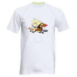 Купить Мужская спортивная футболка Бобры обнимашки, FatLine