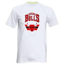Мужская спортивная футболка Большой логотип Chicago Bulls - FatLine