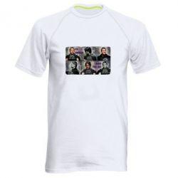 Мужская спортивная футболка Братья Винчестеры в полиции - FatLine