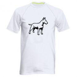 Мужская спортивная футболка Бультерьер - FatLine