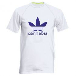 Мужская спортивная футболка Cannabis - FatLine