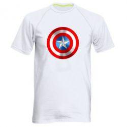 Мужская спортивная футболка Captain America 3D Shield - FatLine