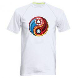 Мужская спортивная футболка Captain America & Iron Man - FatLine