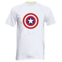 Мужская спортивная футболка Captain America