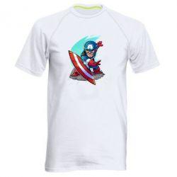 Мужская спортивная футболка Cartoon Captain America - FatLine