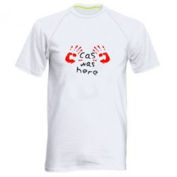 Мужская спортивная футболка Cas was here - FatLine