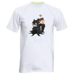 Мужская спортивная футболка Catwoman and Angry Batman - FatLine
