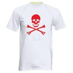 Чоловіча спортивна футболка Череп та кістки