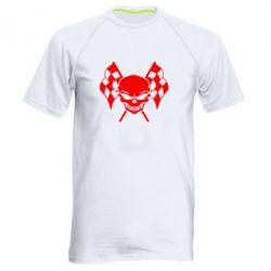 Мужская спортивная футболка Череп Стрит Рейсинг - FatLine
