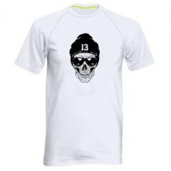 Мужская спортивная футболка Череп в шапке - FatLine