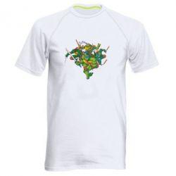 Мужская спортивная футболка Черепашки-ниндзя - FatLine