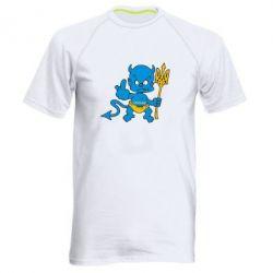 Мужская спортивная футболка Чертик з трезубом - FatLine