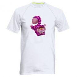 Мужская спортивная футболка Чеширский кот - FatLine