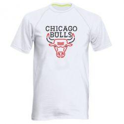 Мужская спортивная футболка Chicago Bulls Logo - FatLine