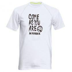 Мужская спортивная футболка Come as you are Nirvana