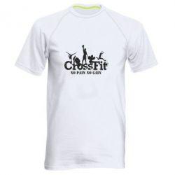 Мужская спортивная футболка Crossfit No pain No Gain - FatLine