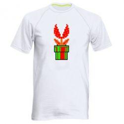 Мужская спортивная футболка Цветок-людоед Супер Марио - FatLine