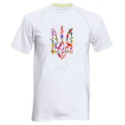 Чоловіча спортивна футболка Квітучий герб - FatLine 4ff240b06cf36