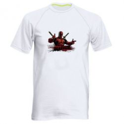 Мужская спортивная футболка Deadpool Paint - FatLine