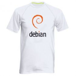 Мужская спортивная футболка Debian - FatLine