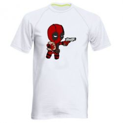 Мужская спортивная футболка Дедпул с пакетиком - FatLine