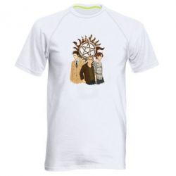 Мужская спортивная футболка Дин, Сэм и Кас - FatLine