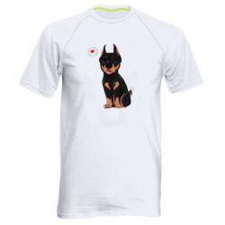 Купить Мужская спортивная футболка Doberman Puppy, FatLine