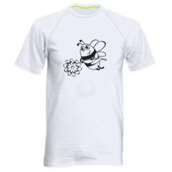 Мужская спортивная футболка Добрая пчелка - FatLine