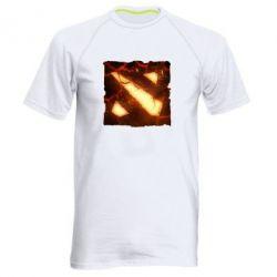 Мужская спортивная футболка Dota 2 Fire Logo - FatLine
