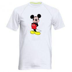 Мужская спортивная футболка Довольный Микки Маус - FatLine