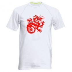 Мужская спортивная футболка Дракон