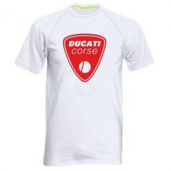 Мужская спортивная футболка Ducati Corse - FatLine