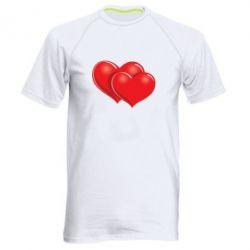 Мужская спортивная футболка Два сердца - FatLine