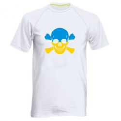 Мужская спортивная футболка Двокольоровий череп - FatLine