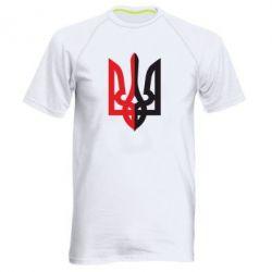Мужская спортивная футболка Двокольоровий герб України - FatLine