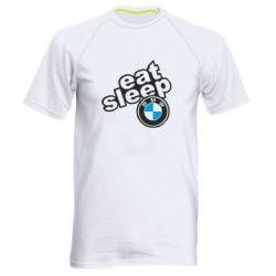 Чоловіча спортивна футболка Eat, sleep, BMW