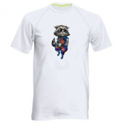 Мужская спортивная футболка Енот Ракета и Грут - FatLine