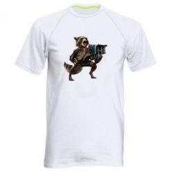 Мужская спортивная футболка Енот Стражи Галактики