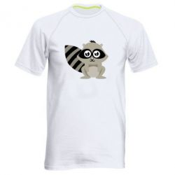 Мужская спортивная футболка Енот - FatLine