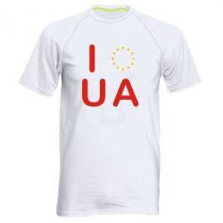 Мужская спортивная футболка Euro UA - FatLine