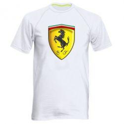 Мужская спортивная футболка Ferrari 3D Logo - FatLine