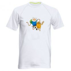 Мужская спортивная футболка Фин и Джейк танцуют 2 - FatLine