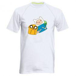 Мужская спортивная футболка Фин и Джейк - FatLine