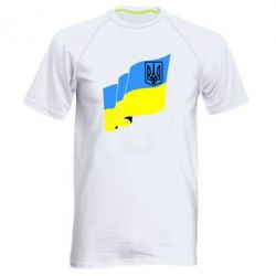 Мужская спортивная футболка Флаг Украины с Гербом
