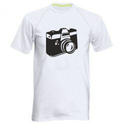 Мужская спортивная футболка Фотоаппарат - FatLine