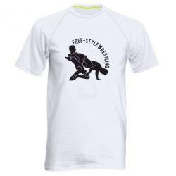 Мужская спортивная футболка Free-style wrestling - FatLine