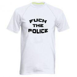 Мужская спортивная футболка Fuck The Police К черту полицию - FatLine