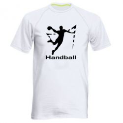 Мужская спортивная футболка Гандболист в прыжке - FatLine