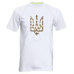 Мужская спортивная футболка Герб Хаки - FatLine